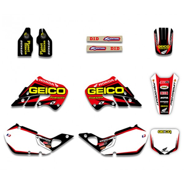 GEICO Graphics Decals Kit For HONDA CR125 1998-1999 CR250