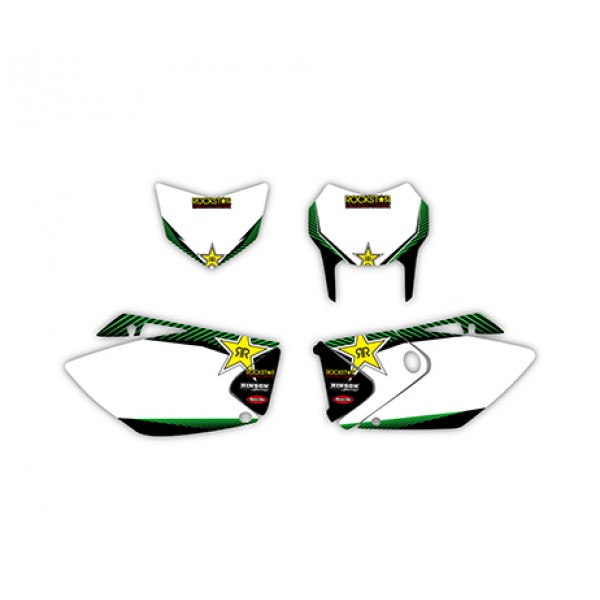 rockstar graphics decals kit for kawasaki klx450 2008