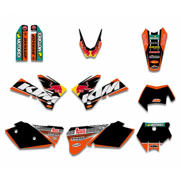 Red Bull GRAPHICS DECALS Kit For KTM SXF MXC SX EXC Series 2005-2007