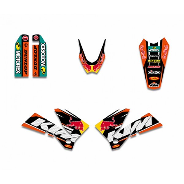 bull graphics decals kit for ktm sxf mxc sx exc series 2005-2007