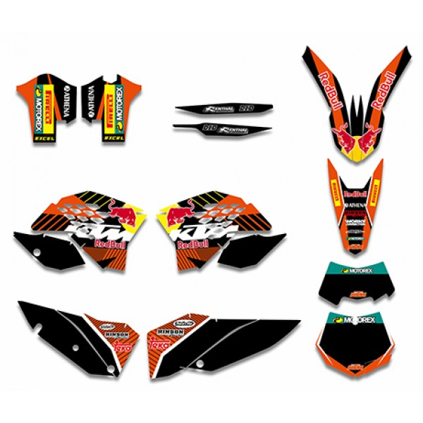 Red Bull GRAPHICS DECALS Kit For KTM SX XC XC-W EXC Series