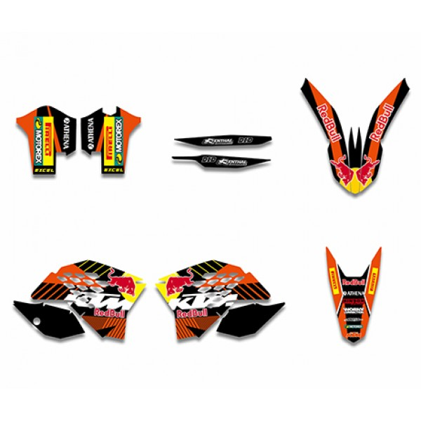 bull graphics decals kit for ktm sx xc xc-w exc series 2008-2011