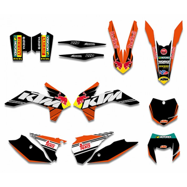 bull graphics decals kit for ktm 125/200/250/300/450/500 exc xc-w xcf-