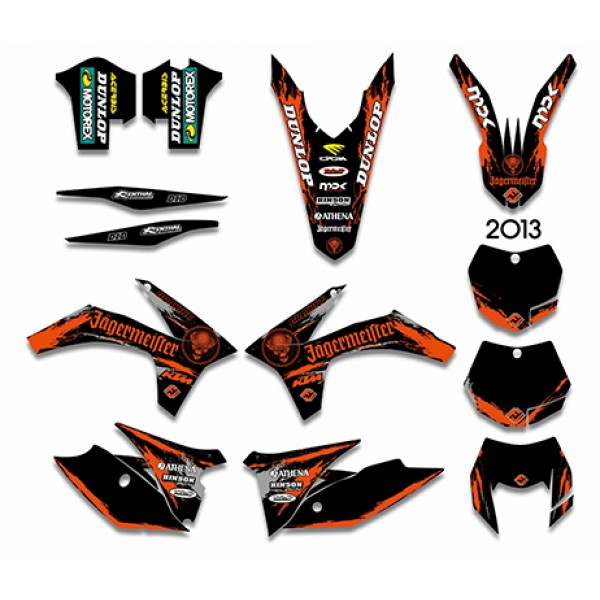 MXP Graphics 0610 Custom Motorcycle Graphic kit Motorcross Stickers Dirt Bike Decals for SX 125 200 250 300 450 525 2003 2004