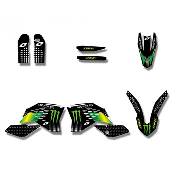 Monster GRAPHICS DECALS Kit For KTM SX SXF 2007 2010XC EXC 2008 2011 Green Black