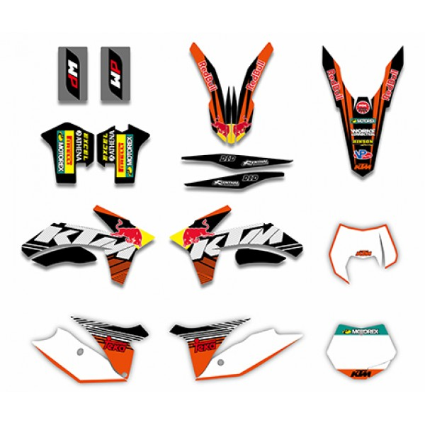 bull graphics decals kit for ktm sx sxf 125/250/380/400/520 2011
