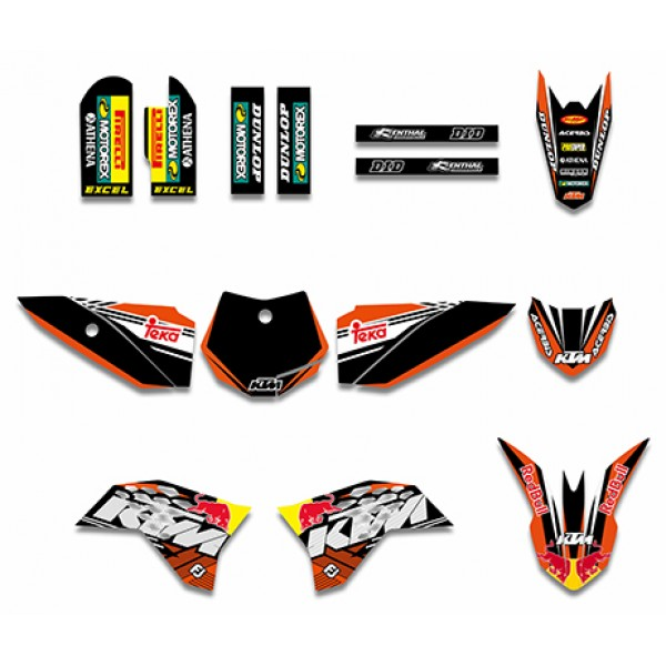 Red Bull GRAPHICS DECALS Kit For KTM50 SX50 50CC 50 50SX