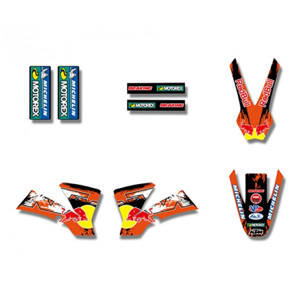 Red Bull GRAPHICS DECALS Kit For KTM SX50 50CC 50 50SX FOR