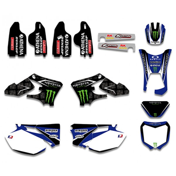 Monster GRAPHICS DECALS Kit For YAMAHA WR250F WR450F 2005 2006 Black White